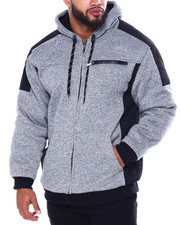 Buyers Picks - Moto Stitched Nylon Pieced Lined Fleece Jacket (B&T)-2445461