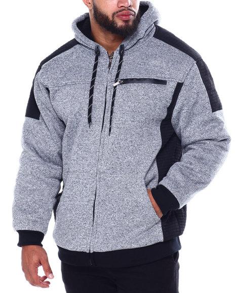 Buyers Picks - Moto Stitched Nylon Pieced Lined Fleece Jacket (B&T)