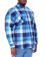 Big & Tall - L/S Plaid Woven (B&T)-2441003