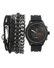 Stocking Stuffers Men - Watch & Stacked Bracelets Set-2440988