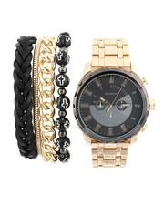 Stocking Stuffers Men - Watch & Stacked Bracelets Set-2440989
