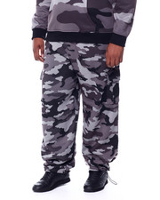 Sweatpants - Printed Camo Fleece Cargo Pants (B&T)-2441046