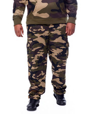 Sweatpants - Printed Camo Fleece Cargo Pants (B&T)-2441051
