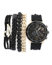 Stocking Stuffers Men - Watch & Stacked Bracelets Set-2440950