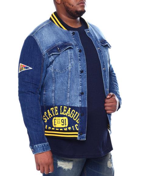 SMOKE RISE - Smoke Rise Denim Varsity Jacket (B&T)