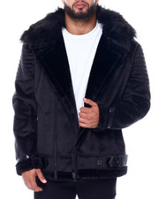Big & Tall - Makobi Bonded Suede Moto Jacket (B&T)-2446138