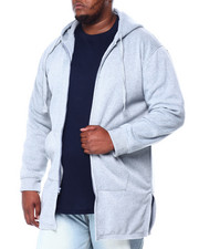 Hoodies - Zip Down Long Fleece W/Center & Slide Slit (B&T)-2428576