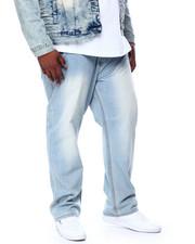 Big & Tall Faves - Stone Wash Sand Blast Denim Pants Relaxed Straight Fit (B&T)-2444387
