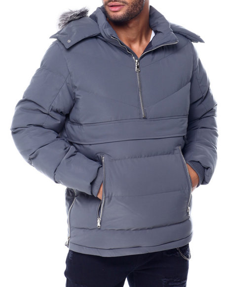 Jordan Craig - Faux fur Quilted Anorak Jacket