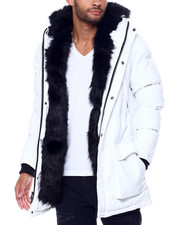 Jordan Craig - Puffer coat w Faux Fur Trim Hood-2446956