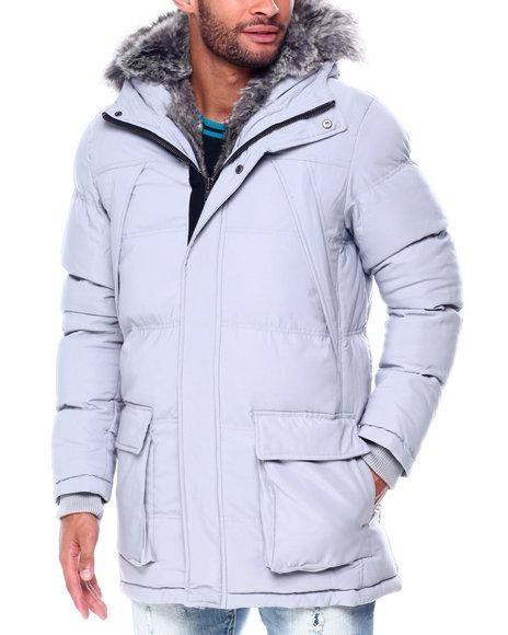 Jordan Craig - Puffer coat w Faux Fur Trim Hood