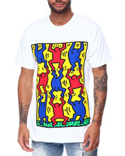 Diamond Supply Co - DMND X KEITH HARING FINGERS CROSSED TEE-2447208