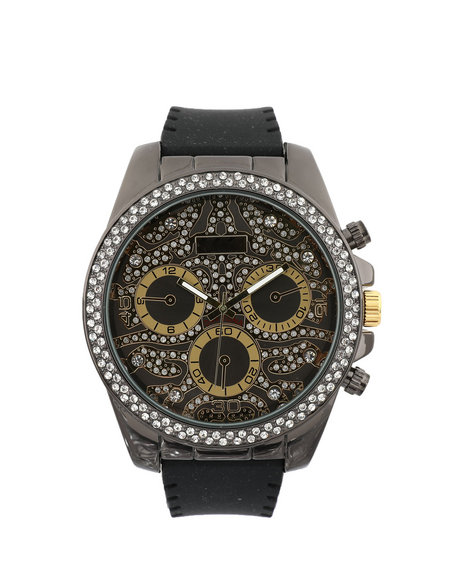 Buyers Picks - Hip-Hop Bling Bling Rubber Band Watch