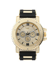 Jewelry & Watches - Hip-Hop Bling Bling Rubber Band Watch-2446009