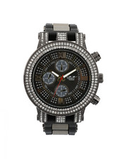 Stocking Stuffers Men - Hip-Hop Bling Bling Rubber Band Watch-2446013
