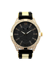 Stocking Stuffers Men - Hip-Hop Bling Bling Rubber Band Watch-2446012