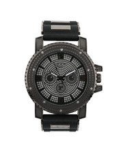 Stocking Stuffers Men - Hip-Hop Bling Bling Rubber Band Watch-2446002