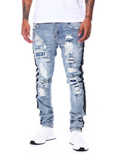 Preme - Distressed Rocker Jean w Crystal Detail-2444564