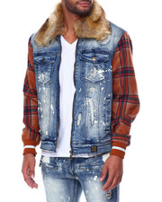 Mens-Winter - Jacket w Plaid Contrast-2447087