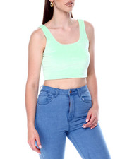 Tanks, Tubes & Camis - S/L Velour Crop-2446748
