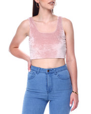 Tanks, Tubes & Camis - S/L Velour Crop-2446726