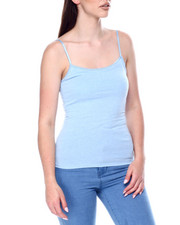 Tanks, Tubes & Camis - Basic Long Tank w/ Shelf Bra-2447729
