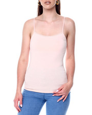 Tanks, Tubes & Camis - Basic Long Tank w/ Shelf Bra-2447721
