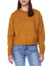 Womens-Winter - Crew Neck Sweater w/ Rib Hem-2447849