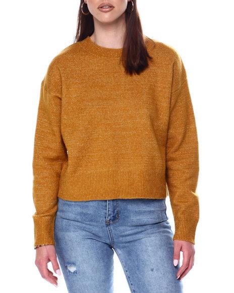Fashion Lab - Crew Neck Sweater w/ Rib Hem