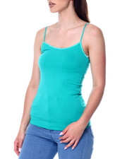 Tanks, Tubes & Camis - Basic Long Tank w/ Shelf Bra-2447712