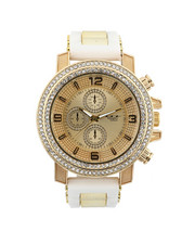 Jewelry & Watches - Hip-Hop Bling Bling Rubber Band Watch-2446004