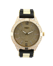 Jewelry & Watches - Hip-Hop Bling Bling Rubber Band Watch-2446018