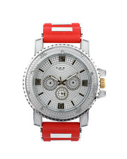 Jewelry & Watches - Hip-Hop Bling Bling Rubber Band Watch-2446127