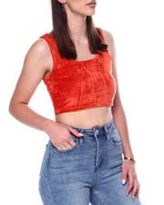 Tanks, Tubes & Camis - S/L Velour Crop-2446739