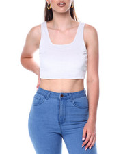 Tanks, Tubes & Camis - S/L Velour Crop-2446743
