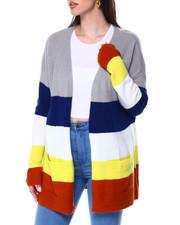 Women - Colorblock 2 Pocket Open Cardigan-2448067