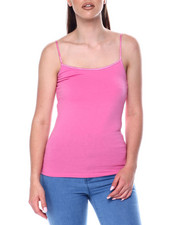 Tanks, Tubes & Camis - Basic Long Tank w/ Shelf Bra-2447717