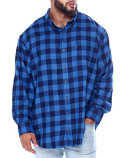 Izod - L/S Flannel Shirt (B&T)-2447105
