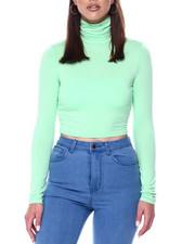 Women - L/S Turtle Neck Crop-2446762