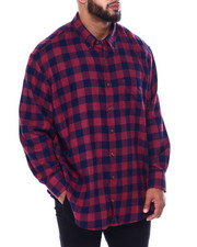Izod - L/S Flannel Shirt (B&T)-2448880