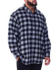 Izod - L/S Flannel Shirt (B&T)-2448876