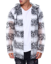 Diamond Supply Co - Diamond X Keith Haring DMND X KEITH HARING STRIPE RAIN COAT-2448651