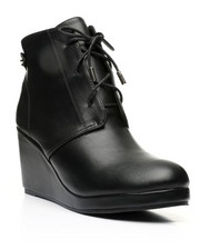 Footwear - Wedge Lace-Up Boots-2447587