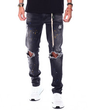Men - Paint Splatter Distressed Stretch Jean-2448483