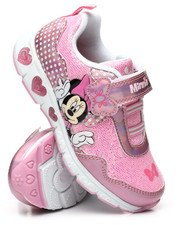 Girls - Minnie Mouse Light-Up Sneakers (7-11)-2447394