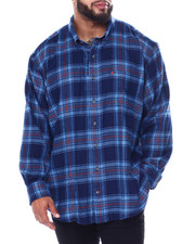 Izod - L/S Flannel Shirt (B&T)-2447114