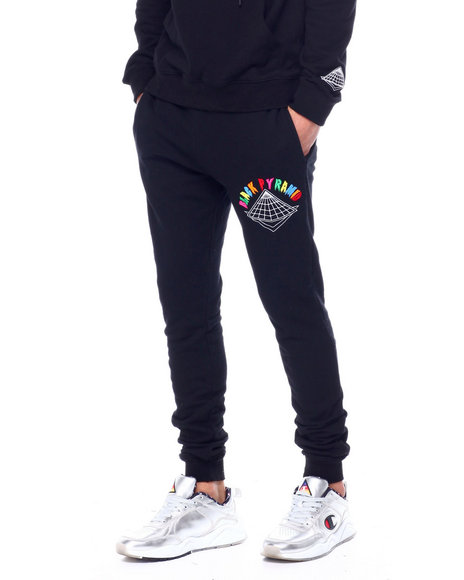 Black Pyramid - Colors Drip Logo Joggers