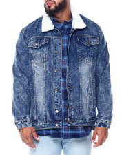 Denim Jackets - Denim Jacket W/Sherpa Collar (B&T)-2447535