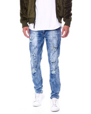 Holiday Shop - Bleach Out Distressed Stretch Jean W Embroidered Knee Detail-2448490