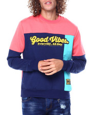Buyers Picks - Good Vibes Colorblock Crewneck Sweathirt-2449422